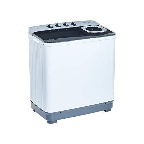 Midea MLTT12M2NUBW Lavadora Semiautomática, color Blanco, 2 Tinas, 12 kg,= Lavado/6 kg Centrifugado