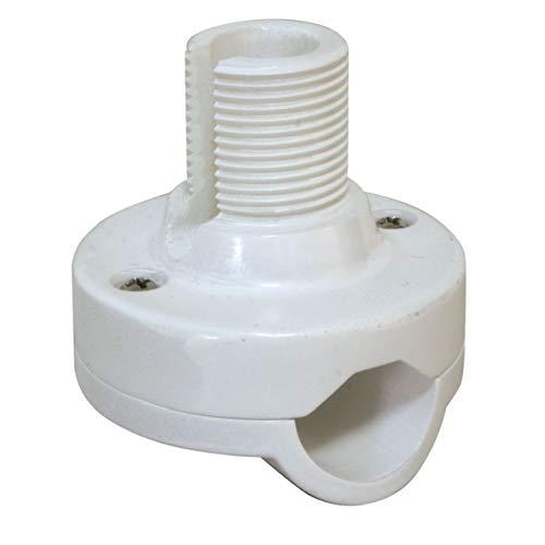 Nuova Rade Relinghalterung 65 mm hoch Standardgewinde Antennenhalterung weiß