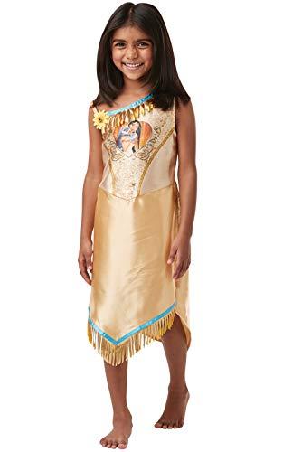 Rubie's Offizielles Disney Prinzessin Pailletten Pocahontas Klassisches Kostüm für Kinder, Größe S Alter 3–4 Jahre, Höhe 104 cm