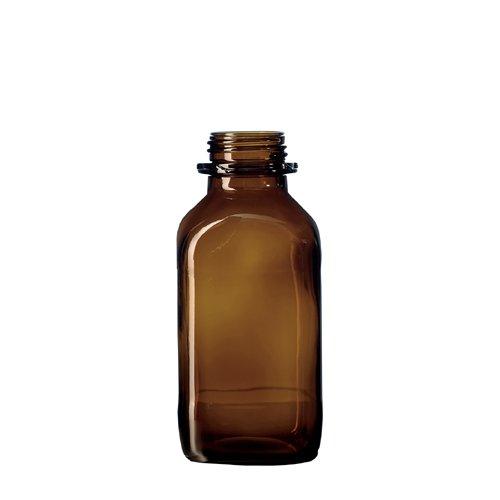 Duran 2382654STI Botella de cal de soda de cristal, cuadrado, weith alsig con rosca, volumen 1000ml, marrón cristal (10unidades)