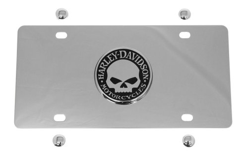 Harley-Davidson Chrome Vanity License Plate Featuring The Willie G Skull