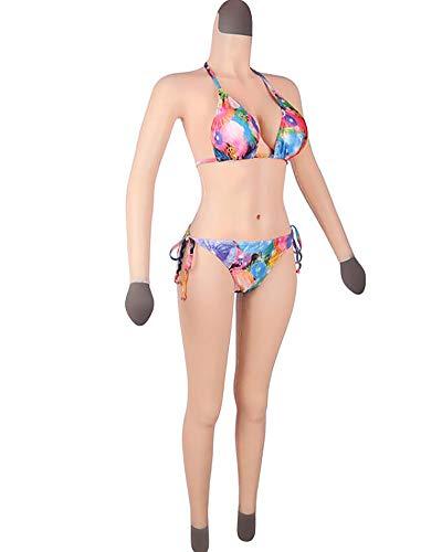 LLC con Brazo Crossdressing Body Artificial Falso Seno Silicona Formas De Seno-para Mastectomía Cosplay Traje De Transgénero Traje De Transexual,European White,Gel