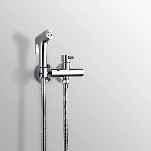 JKCKHA Aseo de Mano del Aerosol del bidé Kit - Aseo higiénico Conjunto Pistola de pulverización de Agua Caliente y fría del Grifo de Ducha Adecuado para baño.