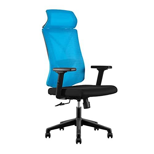 ZRJ Silla de oficina para el hogar Silla de tarea ergonómica Silla de escritorio de malla de respaldo alto para la sala de estudio, hogar, oficina, dormitorio