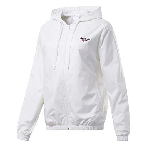 Reebok Classic Vector Windbreaker Jacket, White, X-Large