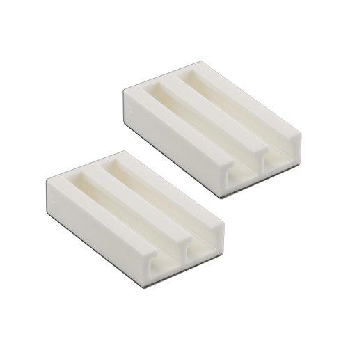 Victoria M. Soportes de sujeción/Respaldo Adhesivo Universal para estores y persianas, Color Blanco (Set de 2 Unidades)