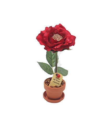 Potted Bronze Desk Rose