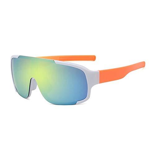 NSGJUYT Hombres Mujeres Bicicletas Lentes UV Carretera MTB Sunglassess Aire Libre Que Monta Racing de conducción de Ciclo Eyewear (Color : White Gold)
