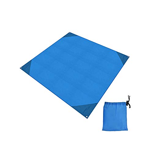 WZPG Colchoneta para Acampar al Aire Libre, colchoneta Impermeable para Tienda de campaña, colchoneta Plegable para Picnic para Barbacoa, 2 Piezas (con Bolsa de Almacenamiento y Gancho)