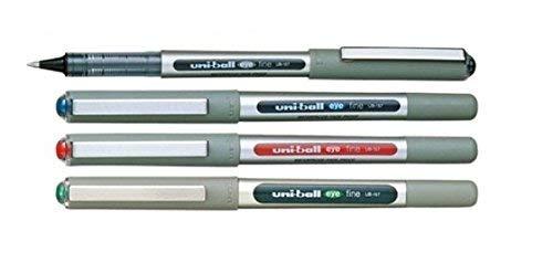 UNI-BALL EYE UB - 157 Lot assorti de 4 (1 x 1 x noir, bleu, 1 rouge, 1 Vert)