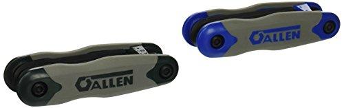 Allen 56632G 17-Key SAE/Metric Hex Key Fold-Up Set