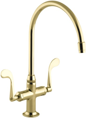 Hot Sale KOHLER K-8762-PB Essex Kitchen Sink Faucet, Vibrant Polished Brass