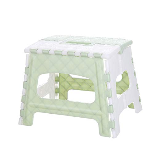 Yncc Tabouret Pliant Tabourets en Plastique Pliables De Ménage,À Usages Multiples Facile à Transporter Forte Capacité Portante,Conçu pour Les Enfants Et La Conception Extérieure(22x17x19cm) (Vert)