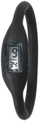 Breo Men's PU-BR10134 Sport Roam Large (18cm) Black Rubber Watch