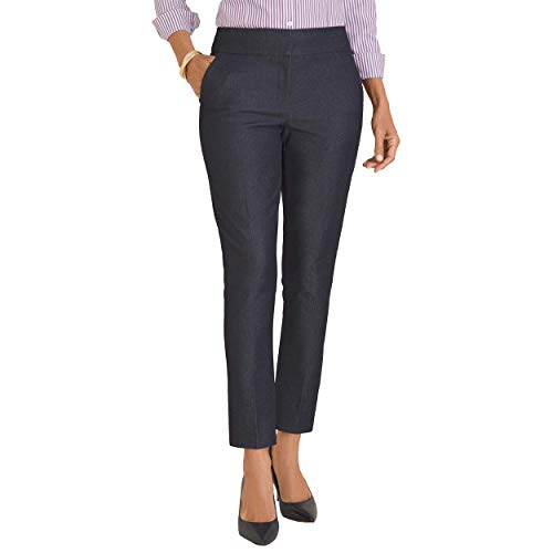 Chico's Women's So Slimming Stretch Fabric Sophia Slim Fit Ankle Length Solid Pants, 16 - XL (3 REG), Garfield Rinse