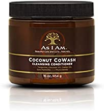 As I Am Coconut Cowash Cleansing Conditioner - 16 ounce - Gentle Daily Cleanser for Hair and Scalp - Removes Residue - Adds and Preserves Moisture - Detangles and Rinses Easily