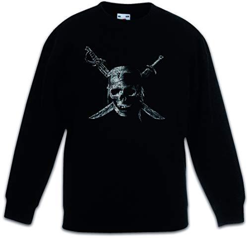 Urban Backwoods Pirate Skull Kinderen Jongens Meisjes Sweatshirt Pullover Trui Schwarz