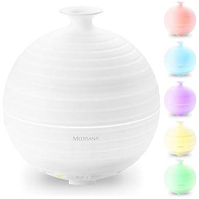 Foto di Medisana AD 620 Diffusore d'Aroma, Nebulizzatore con Luce Benessere in 5 Colori, Lampada Profumata con Timer, Gradevole Profumo da Camera per l'Aromaterapia, 300 m