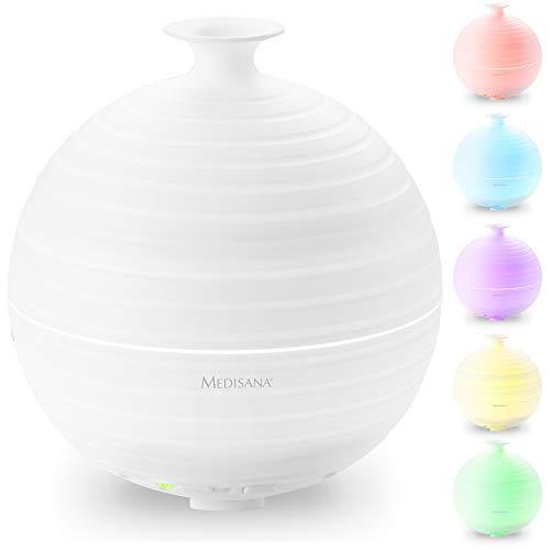 Medisana AD 620 Aromadiffuser, Vernebler mit Wellnesslicht in 5 Farben, Duftlampe mit Timer, angenehmer Raumduft zur Aromatherapie, 300 ml