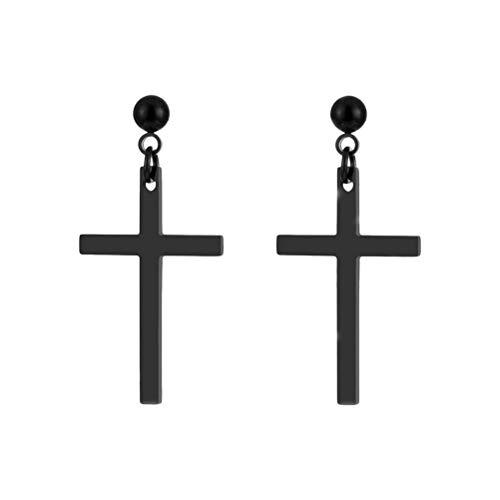 Fenical Oorbellen Unisex Cross Dangle Studs Oorbellen Piercing Sieraden voor Mannen Vrouwen