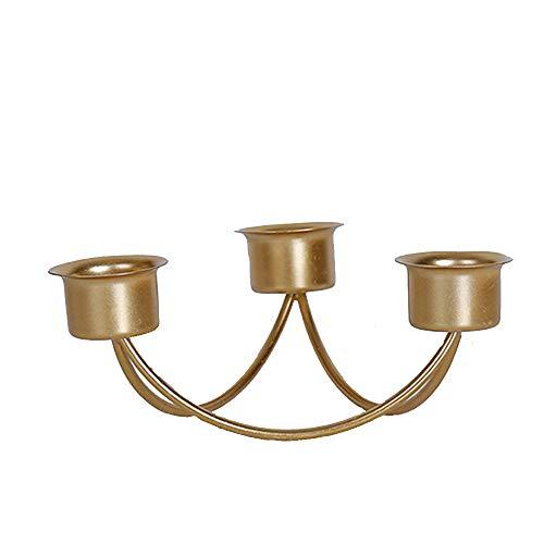 YL-adorn art in Europese stijl drie koppen metalen kandelaar kandelaar decoratie voor tabel middenstukken op Valentijnsdag Kerstmis feestjes vakantie bruiloft en avondeten decor A3