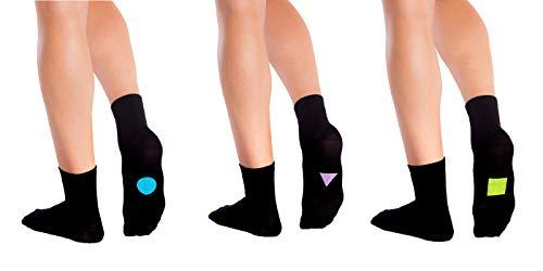 Symbolsocks 3 Paar Socken schwarz mit Motiv, Damen/Herren,37-39,Standard #2