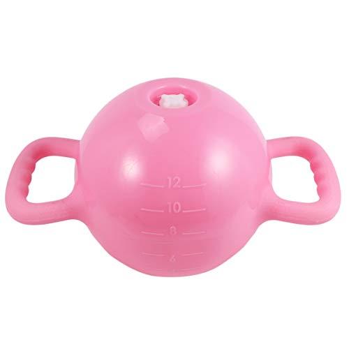 ABOOFAN Kettlebell pour yoga, fitness, double poignée, équipement de sport pour homme et femme (fond plat, violet)