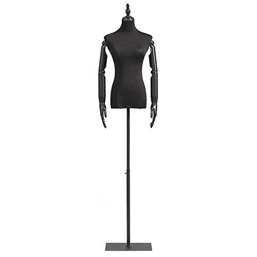 Barture Maniquí De Costura Busto, Durable Maniquies Mujer con Brazo De Madera Maciza Adecuado For Ropa Soporte De Exhibición (Color : Square Base, Size : S)