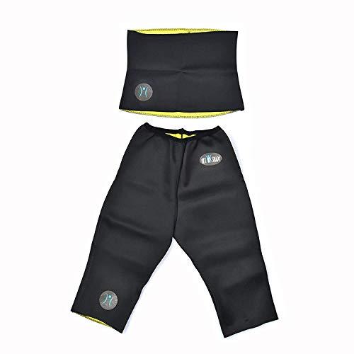 Virtual World Men's and Women's Get in Shape Fitness Belt and Pant Fat Burner Body Shaper (Black)