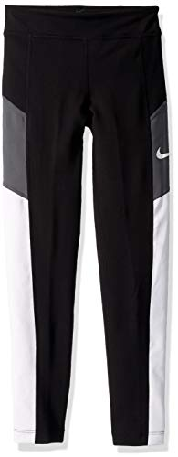 NIKE G NK Trophy Tight Sport Trousers, Niñas, Black/White/Dark Grey/White c/o, L