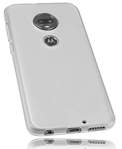 mumbi Hülle kompatibel mit Motorola Moto G7 Plus Handy Hülle Handyhülle, transparent weiss