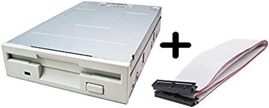 New Internal Floppy Disk Drive (White) 1.44 MB 3.5-inch Floppy Disk Drive with Bundle 18 inch Dual Drive Ultra ATA IDE Hard Drive Cable - IDE/EIDE Cable - UDMA 66/100-40 pin