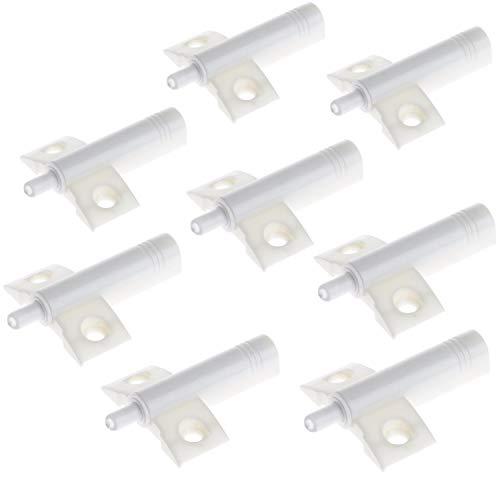 zanasta Türdämpfer 8 Stück für Schrank und Möbel Türen (Soft Close)   Universal Anschlagdämpfer zum Nachrüsten in Küche Wohnzimmer Büro   Weiß