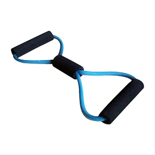 RRB Bandas de Entrenamiento 8-Shape Resistance Fitness Belt Yoga Pilates Lifting Elástico Ejercicio Cinturón Cuerda de Entrenamiento Pecho Expander Bandas de Ejercicio (Color: Negro)-Azul