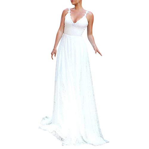 BaZhaHei 2019 Neue Damen Kleid Mode Brautjungfernkleid Prinzessin Ärmellos Abendkleid Spitze Party Kleid Formale Kurze Spitze Kleid Hochzeit Ballkleid Hochzeitskleider