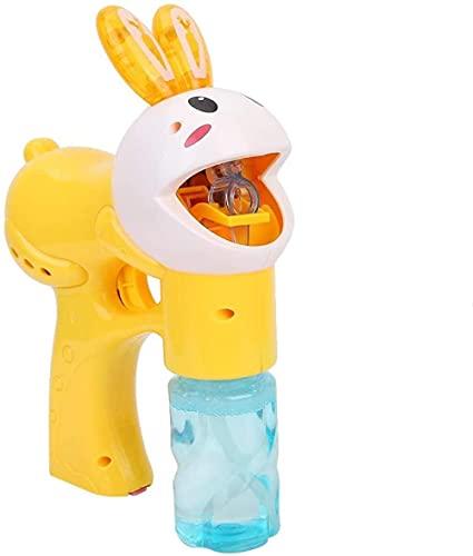 BOIPEEI Rabbit Bubble Machine Cartoon Bubble Gun Tragbare Musik Bubble Maker Outdoor-Spielzeug für Kleinkinder Party Bubble für Kinder