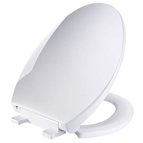 Elongated White Toilet Seat