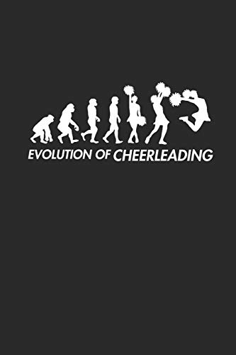 EVOLUTION OF CHEERLEADING: Notizbuch CHEER Notebook Journal 6x9 lined