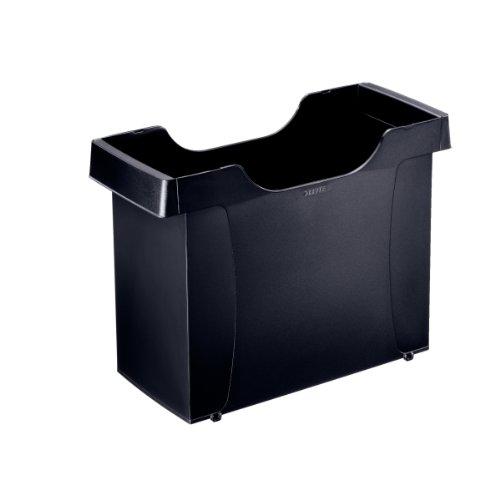 Leitz 19080095 Hängemappenbox (Uni-Box plus, für Hängemappen A4, Polystyrol) schwarz