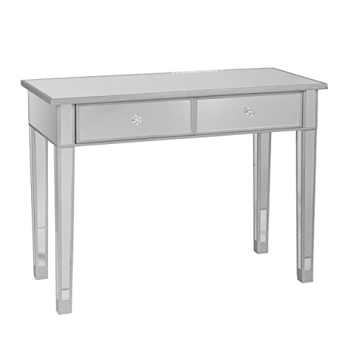 SEI FURNITURE Mirrored 2 Drawer Media Console Table, 39.5' W x 17.75' D x 28.5'...
