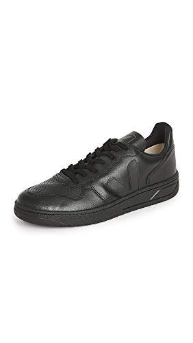 Veja Herren V-10 Leder Sneaker, Schwarz (schwarz / schwarz), 39.5 EU