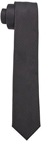 Strellson Premium Herren Krawatte 11 Tie_6.0 10000392, Einfarbig, Gr. One size (Herstellergröße: 1), Grau (Mittelgrau 030)