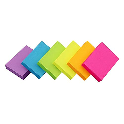 Sticky Notes 1.5x2 inch Bright Colors Self-Stick Pads 18 Pads/Pack 100 Sheets/Pad Total 1800 Sheets