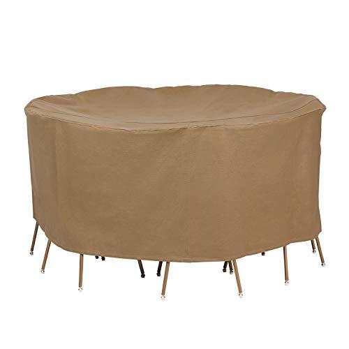 couvertures de canard Essential Round Patio Table avec chaises Coque 76\