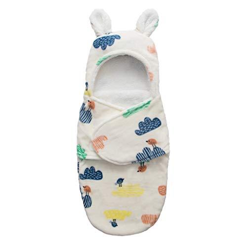 XIANGBEI - Manta con capucha para recién nacido, suave y cálida, forro polar de coral