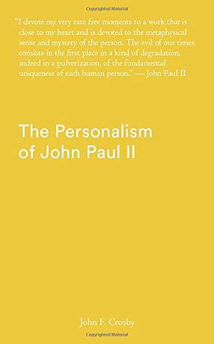 The Personalism of John Paul II
