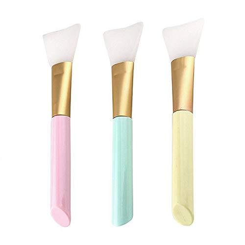 Masque Brosse Silicone Eaux de Maquillage Souple Masque Brosse de Visage DIY Outil De Maquillage Boue Masque Brosse pour Masque Facial 3Pack
