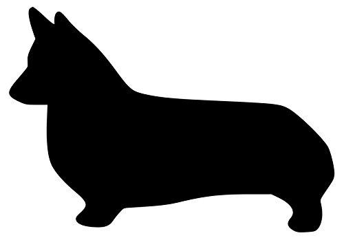 Cardigan Welsh Corgi Hund–Pembroke Wales Vinyl Aufkleber Aufkleber–8,9x 12,7cm schwarz