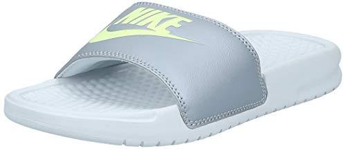 Nike WMNS Benassi JDI, Chaussures de Plage & Piscine Femme, Gris (Pure Platinum/Barely Volt/Wolf Grey 012), 36 1/2 EU