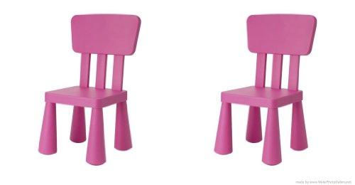 Ikea's Mammut - Silla Infantil (2 Unidades), Color Rosa Oscuro